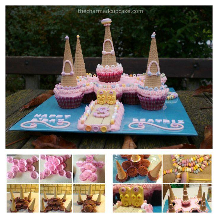 Pull Apart Castle Cupcake Cake