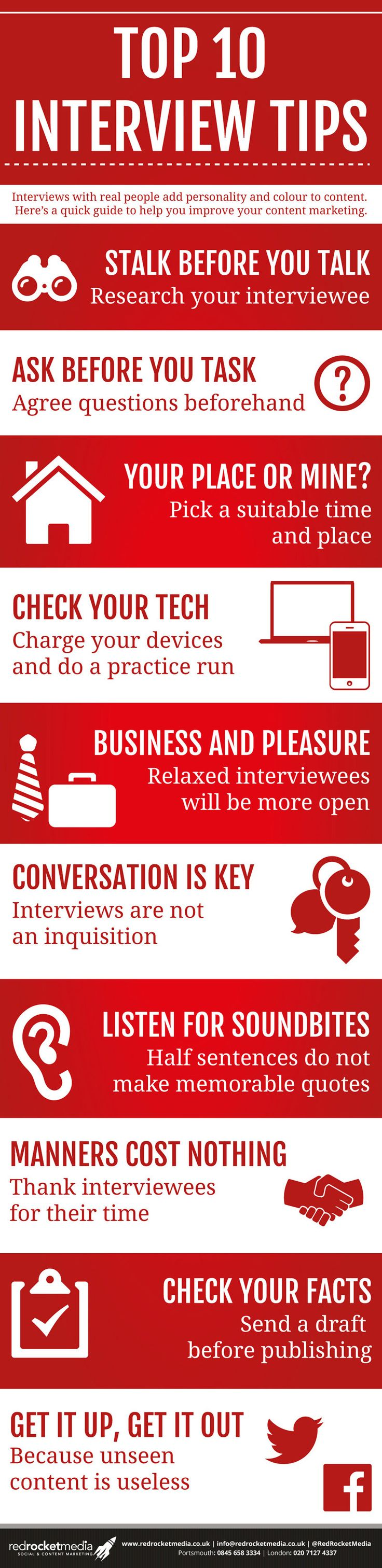 want to improve your content marketing think like a journalist infographic - The Best Job Interview Tips You Can Get