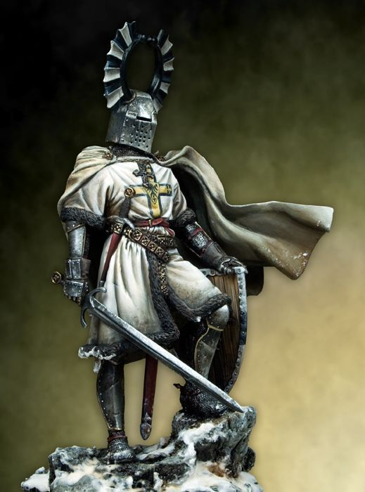 Teutonic Knight armour - this armour was used by teutonic knights during the medieval times, the syleised wings on the helmet was always a defining feature present on their armour.