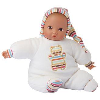 Götz økologisk dukke, Baby Pure, bamse m strib, 33 cm