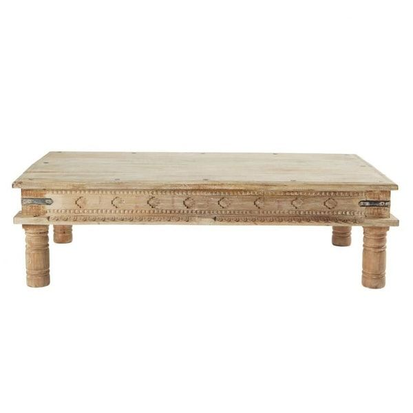 Solid Mango Wood Indian Coffee Table Gandhi Gandhi Maisons Du Monde Us Table Basse Indienne Table De Salon Table Basse