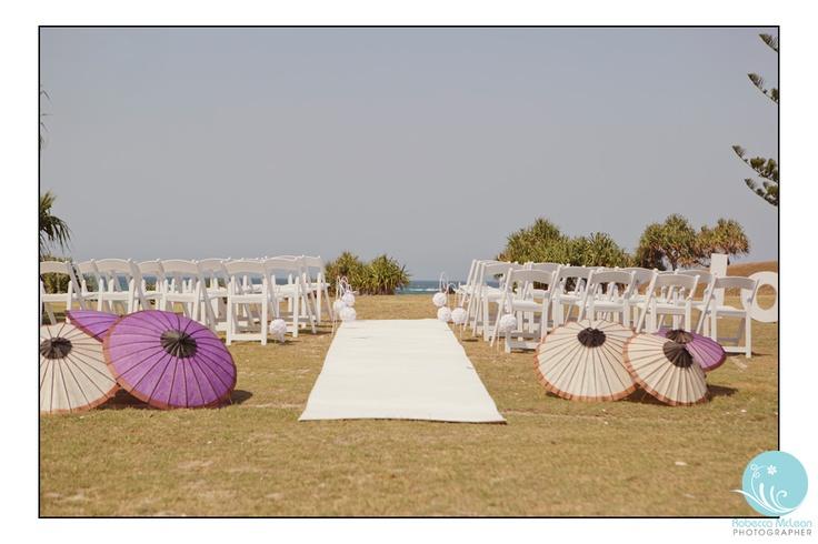 Beach ceremony, Kingscliff NSW.  Robecca McLean Photographer