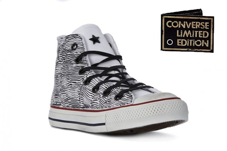 Sneaker Converse All Star 156900c Hi canv textile limited edition black white wave summer 2017