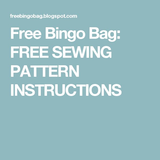 220 best images about bingo bags in pc on Pinterest