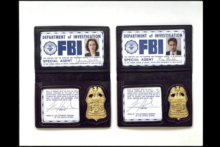 Official X Files FBI Badges The Pinterest