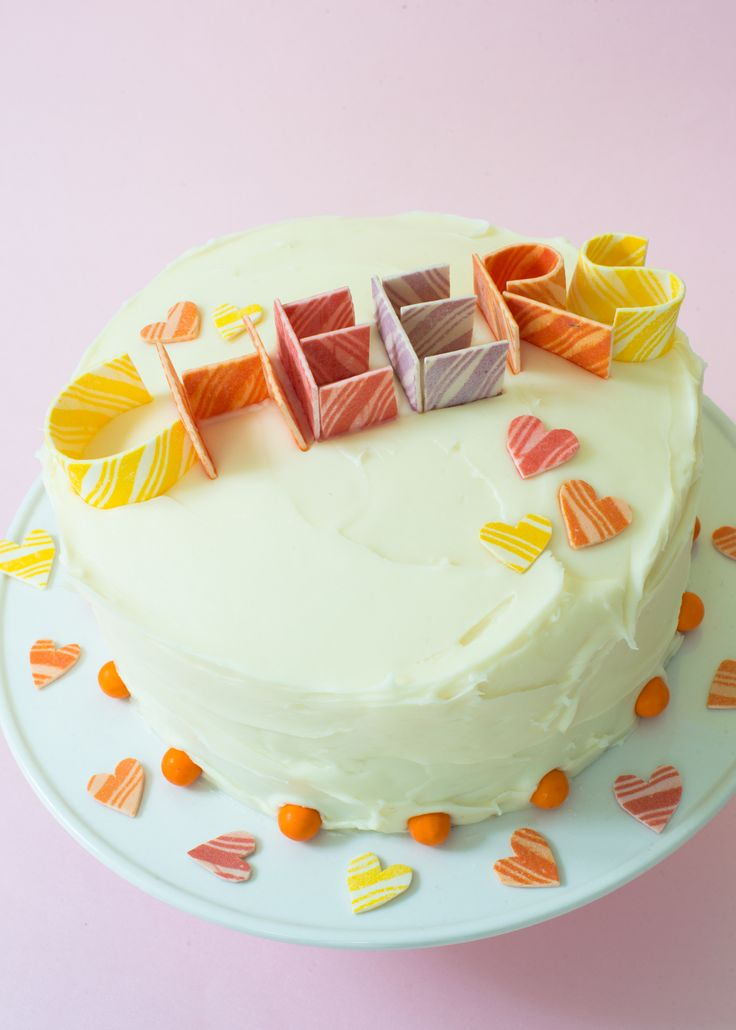 How to make candy letters for cakes