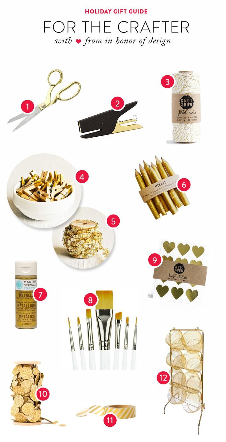 Gift Guide: For the Crafter Read more - http://www.stylemepretty.com/living/2013/12/16/gift-guide-for-the-crafter/