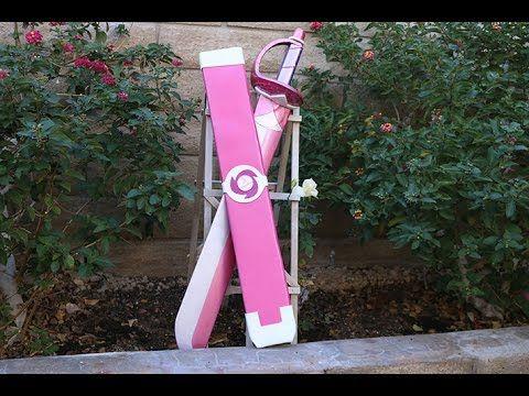 Steven Universe - Rose Quartz Sword Build - YouTube