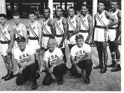 Ben Becker and 1960 Olympic Boxing Team with Cassius Clay (Muhammad ali) albany ny | Flickr - Photo Sharing!