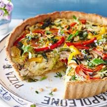 Quiche aux légumes et à la féta | Weight Watchers