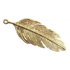 Bedel verguld goud veer Charm goldplated feather Beads