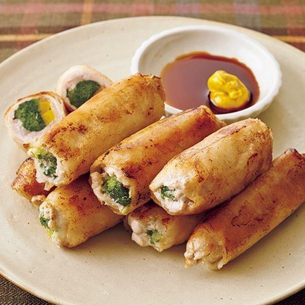 【簡単レシピ】春巻きより手軽に作れてカロリーも低めな「豚春巻き」 画像(1/3) 春巻きの皮を巻いてパリッと揚げ焼きに