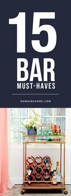 The essential checklist for a well-stocked and stylish home bar.