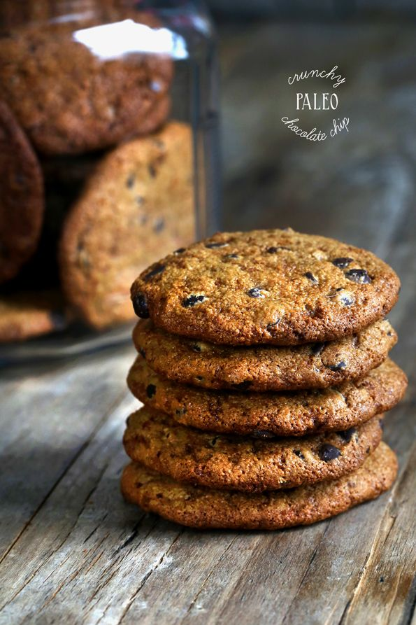 Crunchy Paleo Chocolate Chip Cookies - Gluten Free on a Shoestring