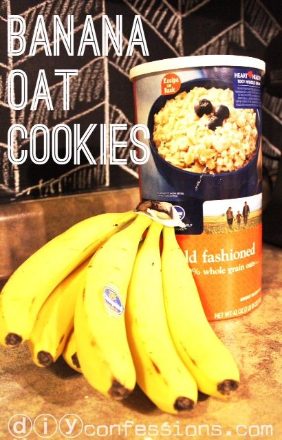Healthy Oat Banana Cookies  2 (ripe) bananas + 1 cup oats,  13 min at 350   Simple cheap cookies that are GF, DF, NF, EF, etc! I make them with my last two bananas in the bunch all the time now.