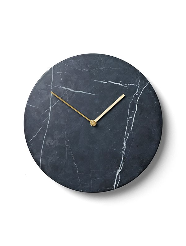 "Norm Architects from Denmark have designed a wall clock with clean lines stripped of all unnecessary details. The minimalistic Marble Wall Clock's reminiscent design allows you to read the hour and minutes of time in timeless fashion. ""With smartphones replacing traditional clocks in our society we'd like to see a renaissance of the classic wall clock, an object not only beautiful but also highly distinguished. The Marble Wall Clock breathes nostalgia and we've chosen a material ...:"