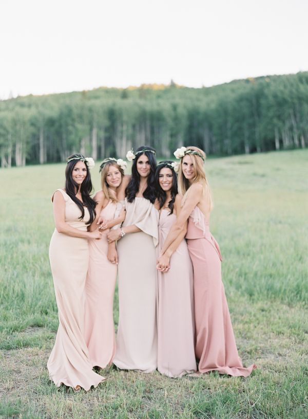 Boho bohemian mix and match bridesmaid dresses