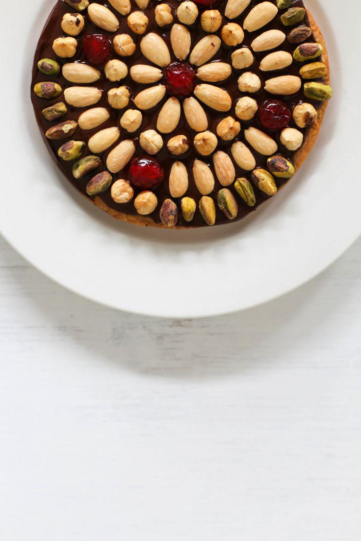 PASTEL DE PASCUA (Polish Easter Chocolate Almond Mazurek) #DulcesDePascua #ChocolateYFrutosSecos