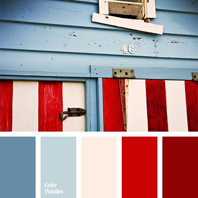 Bright shades of red and deep blue are a perfect choice for stylish and modern apartments. Use these colors in the living room for draperies and textiles,.