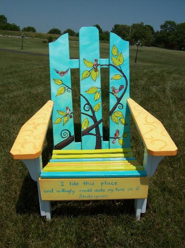 birdchair - silent auction idea