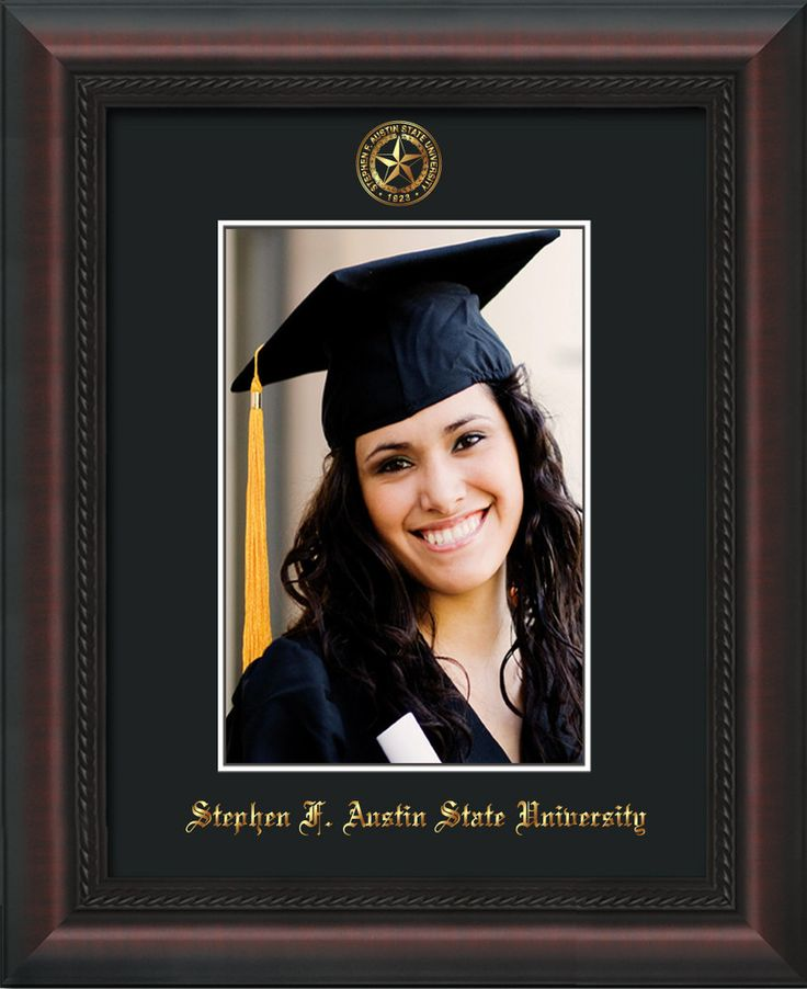 Stephen F Austin State 5 x 7 Mahogany Braid photo frame w/black mat. – Professional Framing Company