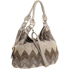 chevron and sparkle. love this big buddha bag!