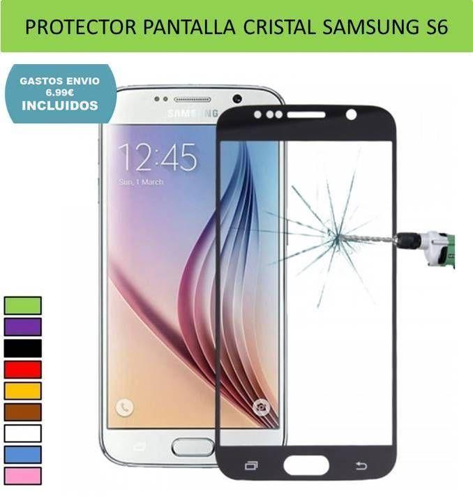 Accesorios moviles Samsung Galaxy S6: Protector pantalla cristal templado Explosion-proof