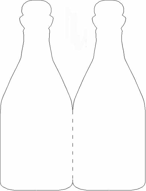 Would like to make the invite in the shape of a wine bottle    Timeless Treasure Trunk Wine Bottle Card Template