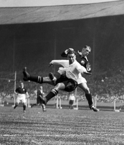 William Dean during the 1933 F.A. Cup Final at Wembley