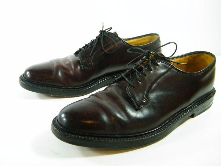 Florsheim Imperial Shoes Shell Cordovan Plain Toe Brown 9.5 D 5 Nail V Cleat #Florsheim #Oxfords