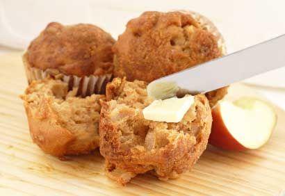 Muffins aux pommes et au miel