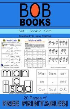 BOB Books Printables: Set 1, Book 2 SAM -- FREE!