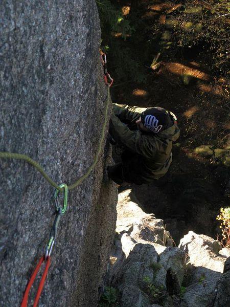 Climbing - Hard - Challenging climb.