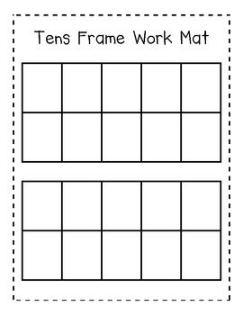 heres a useful tens frame work mat to help in counting objects to