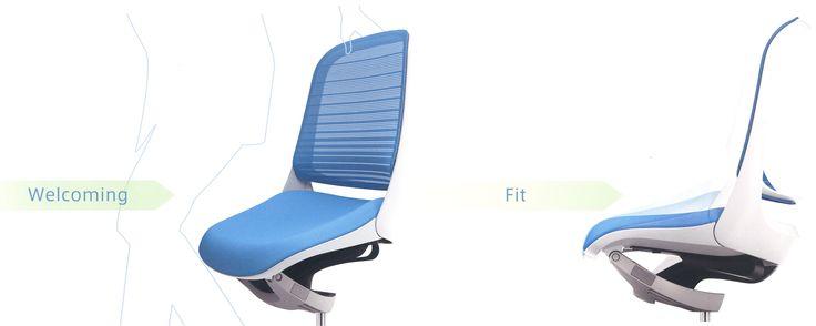 Luce Okamura Luce, een bureaustoel van PLAN@OFFICE ontworpen door Giugiaro Design.