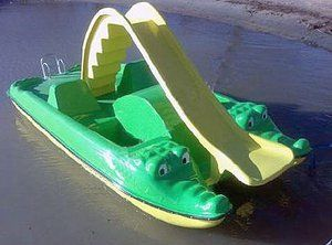 Pedal-boat with a slide---GATORS!