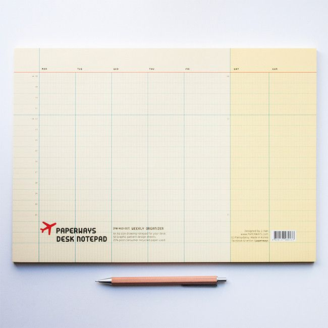 Perfect for getting plans planned! The Paperways Weekly Planner - A4 Desk Notepad