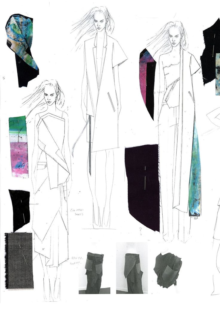 Fashion Sketchbook - fashion sketches & fabrics; fashion design process; fashion portfolio // Niall Cottrell