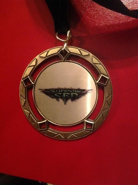 Medals ready for first place Shadow Era tournament winners at GenCon! #shadowera #gencon www.shadowera.com
