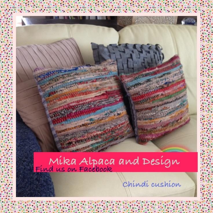 Chindi cushion