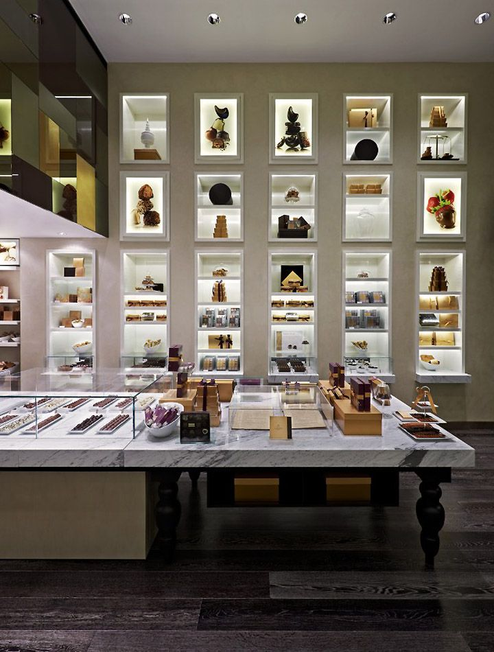 Godiva's New York flagship store. Photo from retaildesignblog