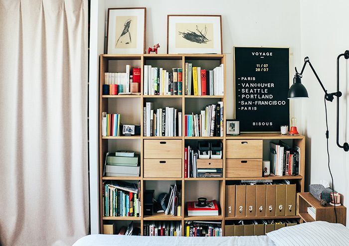26 best Bedroom images on Pinterest   King beds  Queen beds and     Graphic designer Romain Chirat and his partner  theater director Jean  had  a clear vision for their one bedroom place from the second they moved in a  year