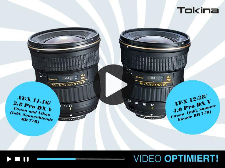 """Tokina hat die Bestseller Optiken AT-X 11-16 2.8 und AT-X12-28 4.0 um eine """"V"""" wie Video Serie ergänzt. #tokina #hapateam"""