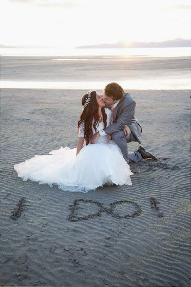 Fabulous Wedding Photos At The Beach ❤ See more: http://www.weddingforward.com/wedding-photos/ #weddings