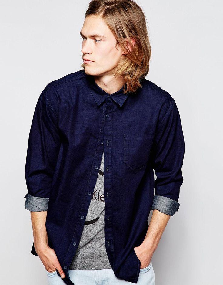 Calvin Klein Jeans Shirt in Overdyed Indigo
