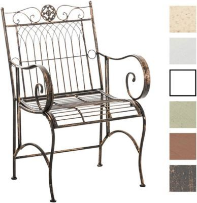 Eisen-Stuhl PURUSHA mit Armlehnen, Gartenstuhl Metall, Design nostalgisch antik Jetzt bestellen unter: https://moebel.ladendirekt.de/garten/gartenmoebel/gartenstuehle/?uid=b5e5b405-7f23-5a12-96e2-404e0b9bff65&utm_source=pinterest&utm_medium=pin&utm_campaign=boards #garten #gartenmoebel #gartenstuehle #eckbänke