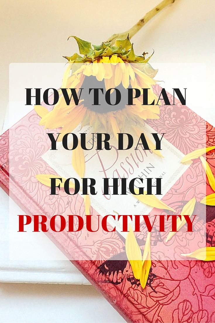 Do you find that your day has just gone by and you have done anything? Discover how to plan your day effectively so that you can achieve a lot and have a productive day!