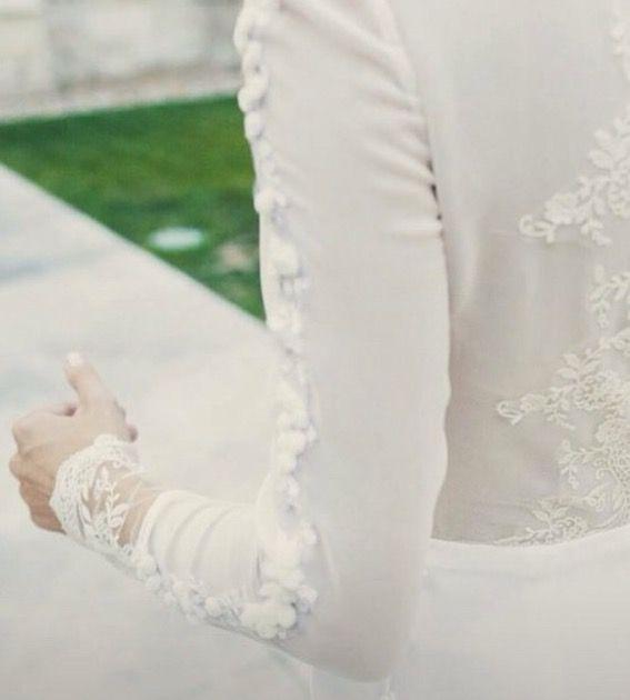 Mangas de novia bordadas