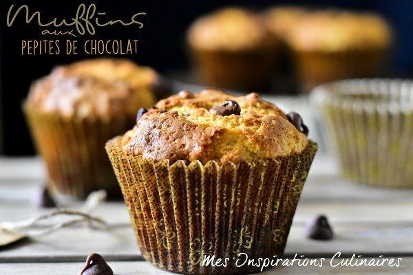 Les muffins américains aux pépites de chocolat et au babeurre