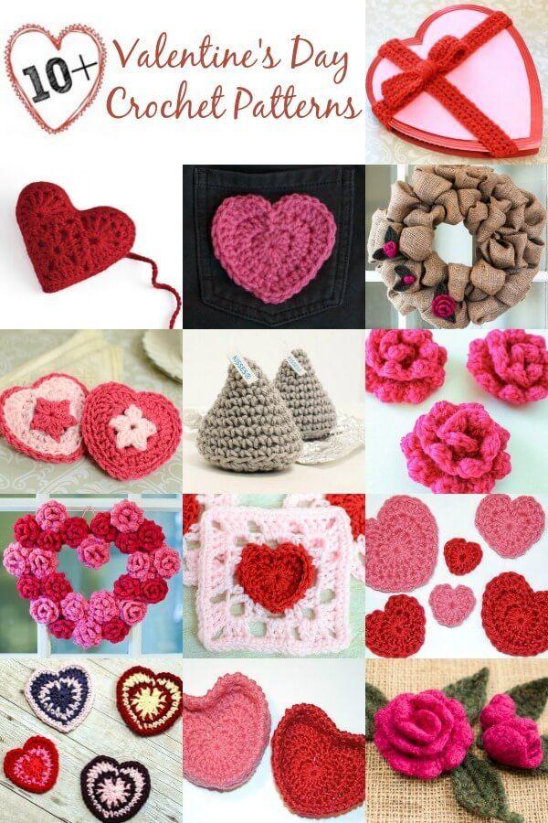 10 Free Valentines Day Crochet Patterns Heart Pinterest
